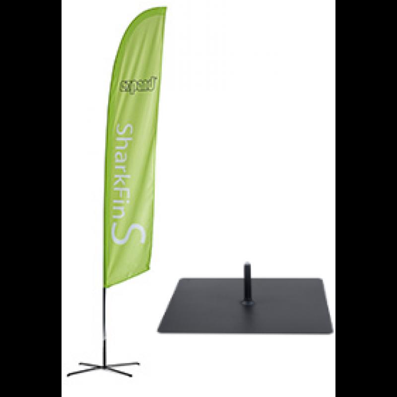 PromoFlag Federform mit Bodenplatte