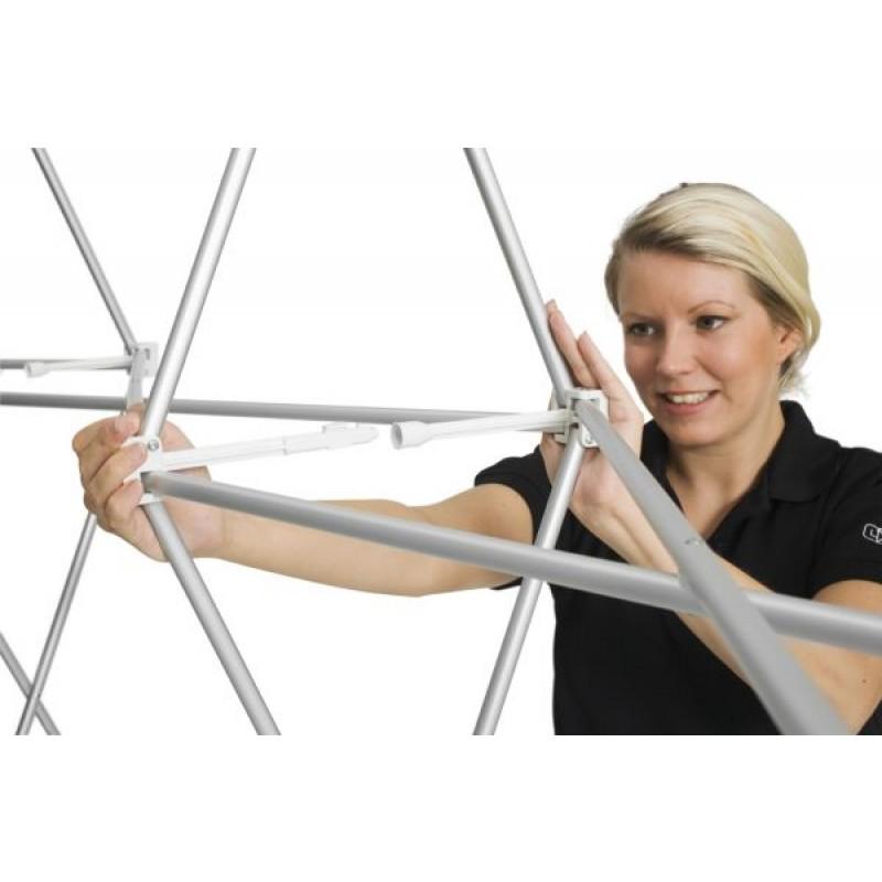 MediaWall 3x3 Trolley Komplett-Set