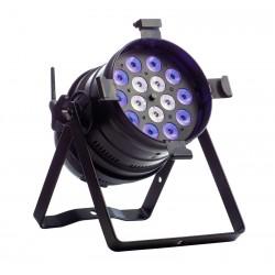 PAR 64 LED AKKU RGB+CW, Floor short schwarz