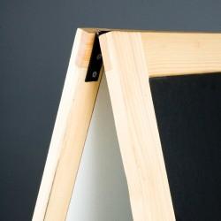 Kundenstopper mit Holzrahmen