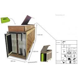 Transportcase für bis zu 14 Rahmen